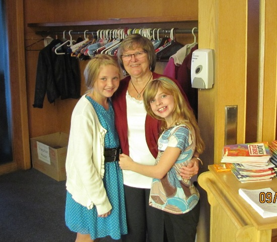 Lorraine & granddaughters, Emily & Ashley